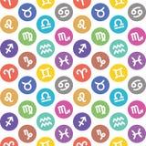 De dierenriem ondertekent naadloos patroon Waterman, libra, leo, taurus, kanker, pisces, virgo, Steenbok, sagittarius, aries, Twe royalty-vrije illustratie