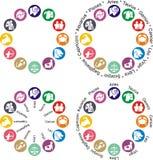 De dierenriemillustratie van de horoscoop -   stock illustratie