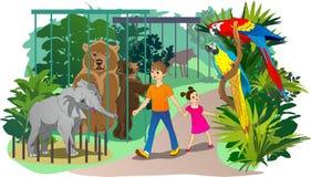 In de dierentuin Stock Afbeelding
