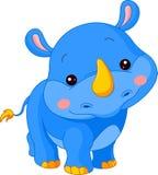 De dierentuin van de pret. Rinoceros Stock Afbeelding