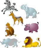 De dierenvector van het beeldverhaal Stock Foto's