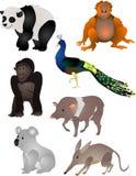 De dierenvector van het beeldverhaal vector illustratie