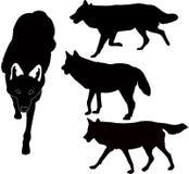 De dierenvector van wolven Royalty-vrije Stock Foto's