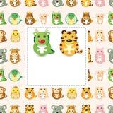de dierlijke, Chinese dierlijke kaart van Dierenriem 12 Stock Afbeelding