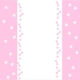 De dierlijke grens van het voetafdrukornament die op witte achtergrond wordt geïsoleerd Stock Foto
