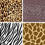 De dierlijke inzameling van het huid naadloze patroon Stock Foto's