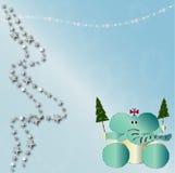 De dierlijke kaart van Kerstmis Royalty-vrije Stock Afbeelding