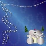 De dierlijke kaart van Kerstmis Royalty-vrije Stock Foto