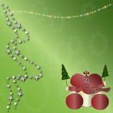 De dierlijke kaart van Kerstmis Stock Afbeeldingen