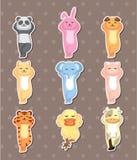 De dierlijke stickers van de slaap Royalty-vrije Stock Afbeeldingen