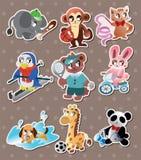 De dierlijke stickers van de sportspeler Stock Foto