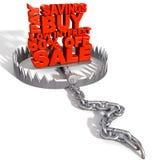 De Dierlijke Val van de schuld royalty-vrije illustratie