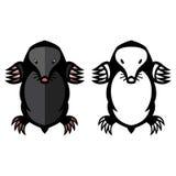 De dierlijke vectorillustratie van het molongedierte Royalty-vrije Stock Afbeeldingen