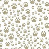 De dierlijke voetafdrukken omvatten naadloos patroon stock illustratie