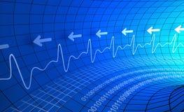 De digitale abstracte achtergrond van de impulsmonitor stock illustratie
