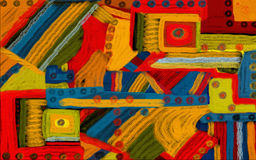 De digitale Abstracte Achtergrond van de Kunst van de Kleur Stock Foto's