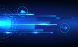 De digitale abstracte achtergrond van de snelheidstechnologie Stock Foto