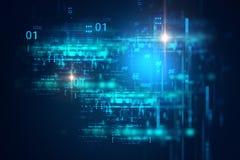 De digitale achtergrond van de codenummer abstracte technologie vector illustratie