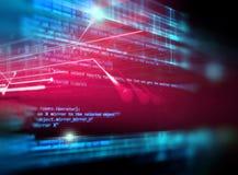 De digitale achtergrond van de codenummer abstracte technologie Stock Foto