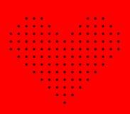 De digitale achtergrond van de hartvorm Stock Foto