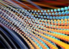 De digitale achtergrond van de kubusstroom Stock Afbeelding
