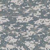 Digitaal camouflage naadloos patroon Stock Afbeeldingen