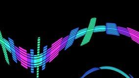 De digitale Audiomuziek maakt Niveaus Grafische Computer Geproduceerde Technologie gelijk royalty-vrije illustratie