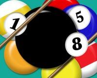 De digitale Ballen van de Pool Royalty-vrije Stock Foto's