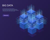 De digitale Banner van het Technologieweb Grote Gegevens stock fotografie