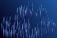 De digitale blauwe visuele optische technologie van lijnenstromen royalty-vrije stock afbeelding