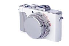 De Digitale Camera van het punt en van de Spruit die op Wit wordt geïsoleerd royalty-vrije stock afbeeldingen