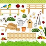 De digitale collage van de tuin royalty-vrije illustratie
