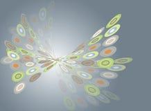 De digitale gloed van de vlinderdraai Stock Foto's