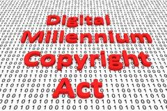 De digitale handeling van het millenniumauteursrecht stock illustratie