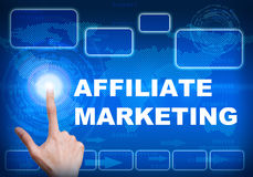 De digitale interface van het aanrakingsscherm van filiaal marketing concept Royalty-vrije Stock Foto's