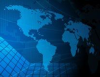 De digitale Kaart van de Wereld Royalty-vrije Stock Afbeeldingen