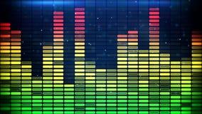 De digitale klassieke kleuren van de muziekequaliser Stock Foto