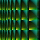 De digitale kunst, vat driedimensionele voorwerpen met zachte verlichting samen stock illustratie