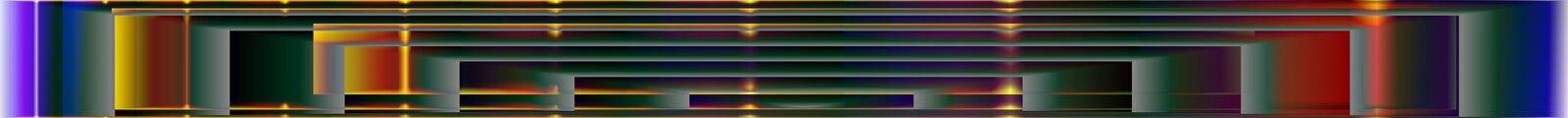 De digitale kunst, vat driedimensionele voorwerpen met zachte verlichting samen royalty-vrije illustratie