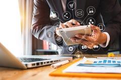 De digitale marketing media zaken van de bolvorm royalty-vrije stock afbeeldingen
