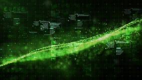 De digitale Ruimtedeeltjes van Cyber Stock Fotografie