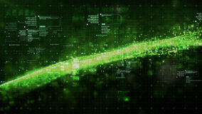 De digitale Ruimtedeeltjes van Cyber Royalty-vrije Stock Afbeelding