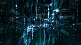 De digitale Ruimtedeeltjes van Cyber Stock Foto's