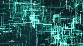 De digitale Ruimtedeeltjes van Cyber Stock Afbeelding