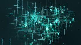De digitale Ruimtedeeltjes van Cyber Royalty-vrije Stock Afbeeldingen