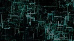 De digitale Ruimtedeeltjes van Cyber Stock Foto