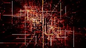 De digitale Ruimtedeeltjes van Cyber Stock Afbeeldingen