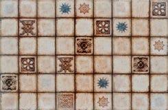 De digitale rustieke achtergrond van de mozaïektegel. Royalty-vrije Stock Afbeeldingen