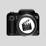 De digitale speld van de de kleppenfilm van de fotocamera Stock Afbeeldingen