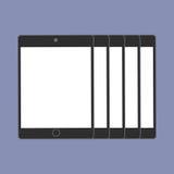 De digitale tendens van de apparatengeneratie respectievelijk, ontwerp voor Webpresentatie in pictogramreeks Stock Foto's
